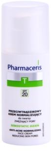 Pharmaceris T-Zone Oily Skin Sebostatic Day Dagcrème voor porien inkrimping  voor Problematische Huid, Acne