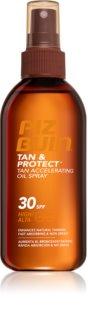 Piz Buin Tan & Protect Skyddande accelererande sololja  SPF 30