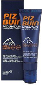 Piz Buin Mountain Beschermende Gezichtscrème en Lippenbalsem 2in1  SPF 30