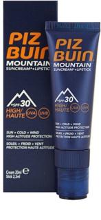 Piz Buin Mountain crème protectrice visage et baume à lèvres 2 en 1 SPF30