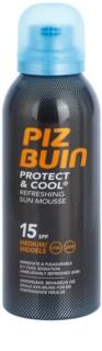 Piz Buin Protect & Cool pianka orzeżwiająca do opalania SPF 15