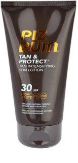 Piz Buin Tan & Protect napozást elősegítő védő tej SPF 30