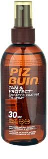 Piz Buin Tan & Protect schützendes Öl für schnellere Bräune SPF 30