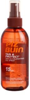 Piz Buin Tan & Protect napozást elősegítő védő olaj SPF 15