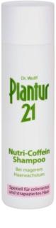 Plantur 21 champô nutritivo com cafeína para cabelo danificado e pintado