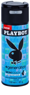 Playboy Generation Skin Touch deodorant Spray para homens 150 ml