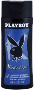Playboy King Of The Game gel de dus pentru barbati 400 ml
