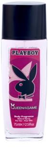 Playboy Queen Of The Game Deo mit Zerstäuber für Damen 75 ml