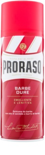 Proraso Red mousse à raser pour barbe dure