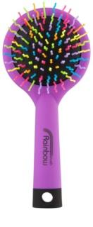 Rainbow Brush Large cepillo para el cabello con un espejo pequeño