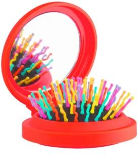 Rainbow Brush Pocket kartáč na vlasy se zrcátkem