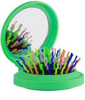 Rainbow Brush Pocket cepillo para el cabello con un espejo pequeño