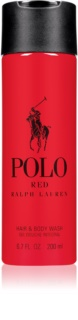 Ralph Lauren Polo Red gel de duche para homens 200 ml