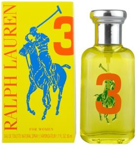 Ralph Lauren The Big Pony Woman 3 Yellow Eau de Toilette voor Vrouwen  50 ml