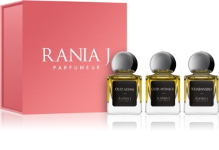 Rania J. Priveé Émeraude Collection Gift Set VI.  Oud Assam + Cuir Andalou + T. Habanero