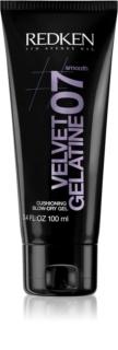 Redken Smooth Velvet Gelatine 07 Gel para aportar volumen y brillo tras darle forma con el secador