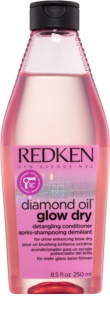 Redken Diamond Oil Glow Dry après-shampoing éclaircissant pour des cheveux éclatants et faciles à coiffer