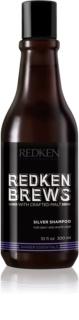 Redken Brews champú revitalizador para cabello cano