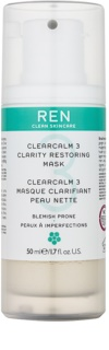 REN ClearCalm 3 Radiance Mask For Problematic Skin, Acne