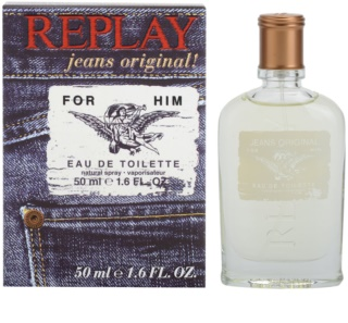 Replay Jeans Original! For Him Eau de Toilette pentru barbati 50 ml