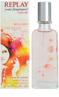 Replay Your Fragrance! Refresh For Her Eau de Toilette voor Vrouwen  40 ml