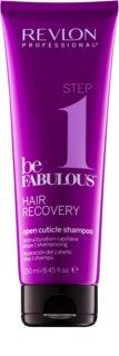 Revlon Professional Be Fabulous Hair Recovery очищуючий шампунь з ефектом відкриття кутикули