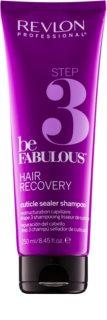 Revlon Professional Be Fabulous Hair Recovery champô com efeito de fechar cabelo para prolongar os efeitos de máscara regeneradora
