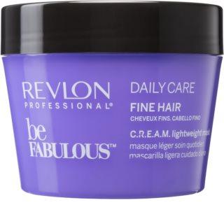 Revlon Professional Be Fabulous Daily Care máscara regeneradora e hidratante para cabelo fino