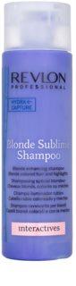 Revlon Professional Interactives Blonde Sublime champô para cabelo loiro e grisalho
