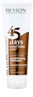 Revlon Professional Revlonissimo Color Care Shampoo und Conditioner 2 in 1 für braune Farbnuancen des Haares