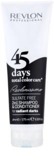 Revlon Professional Revlonissimo Color Care szampon i odżywka 2 w 1 dla bardzo ciemnych odcieni i czarnych włosów