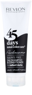 Revlon Professional Revlonissimo Color Care 2-in1 Shampoo and Conditioner for Very Dark and Black Hair