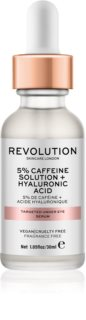 Revolution Skincare 5% Caffeine solution + Hyaluronic Acid sérum para contorno de ojos