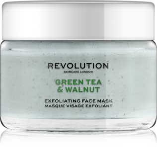 Revolution Skincare Green Tea & Walnut máscara facial de limpeza esfoliante