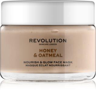 Revolution Skincare Honey & Oatmeal posvetlitvena maska za obraz