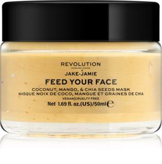 Revolution Skincare Jake-Jamie Coconut, Mango & Chia Seed Mask rozjaśniająca maseczka do twarzy