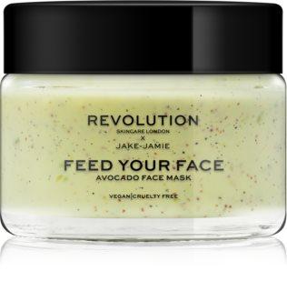 Revolution Skincare Jake-Jamie Avocado зволожуюча маска з ефектом пілінгу