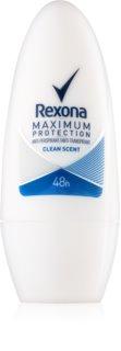 Rexona Maximum Protection Clean Scent deodorant roll-on antiperspirant 48 de ore