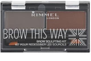 Rimmel Brow This Way paletta a szemöldök sminkeléséhez