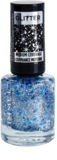 Rimmel Glitter Medium Coverage lak na nehty se třpytkami