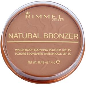 Rimmel Natural Bronzer pó bronzeador à prova de água SPF 15