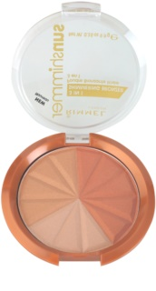 Rimmel Sun Shimmer 3 in 1 Shimmering Bonzer Shimmer Bronzer