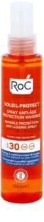 RoC Soleil Protect transparentno zaščitno pršilo proti staranju kože SPF 30