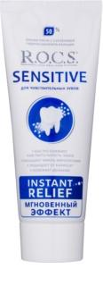 R.O.C.S. Sensitive Instant Relief remineralizująca pasta do zębów z wapniem dla wrażliwych zębów