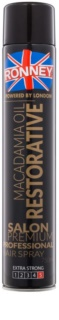 Ronney Macadamia Oil Restorative Hairspray - Strong Hold