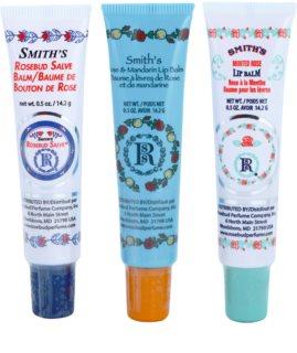 Rosebud Perfume Co. Smith's Rosebud Lip Balm Trio козметичен пакет