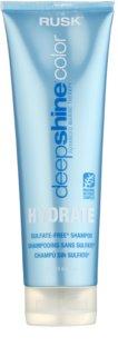 Rusk Deep Shine Color Hydrate зволожуючий та відновлюючий шампунь для сухого та фарбованого волосся