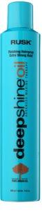 Rusk Deep Shine Oil szybkoschnący lakier do włosów do utrwalenia kształtu