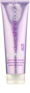 Rusk Deep Shine Color Repair oczyszczający szampon odżywczy dla podkreślenia koloru włosów