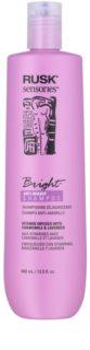 Rusk Sensories Bright șampon pentru păr gri și blond neutralizeaza tonurile de galben